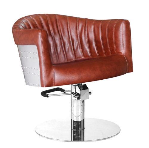 barbier stoel ST Tropez cognac bruin